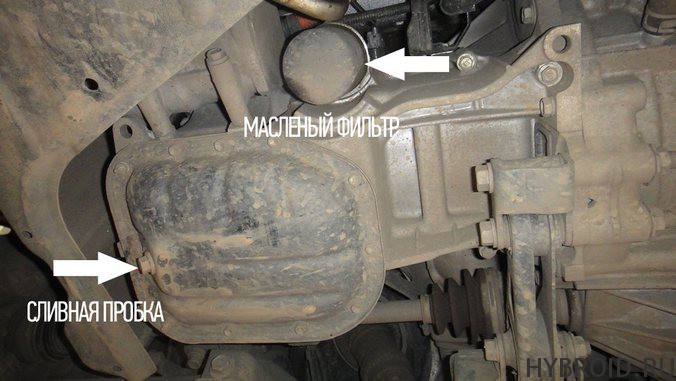 Меняем масло и фильтр в Toyota Prius