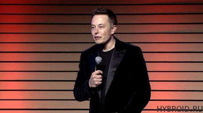 Элон Маск из компании Tesla