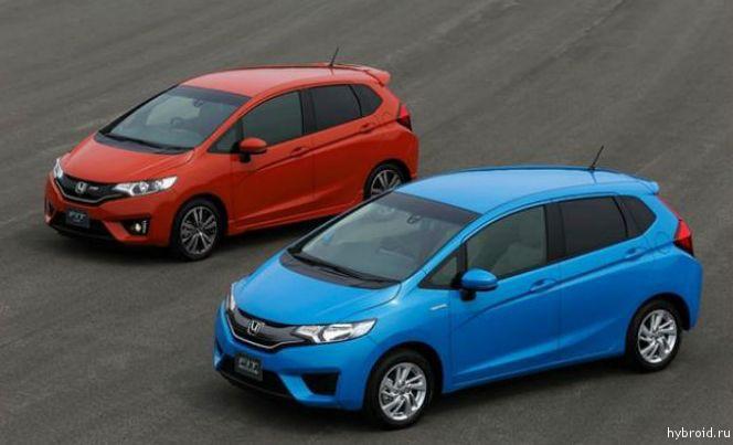 Представлен новый автомобиль Honda Fit Hybrid 2014