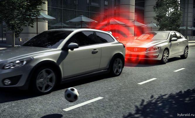 Volvo автоматическое торможение2