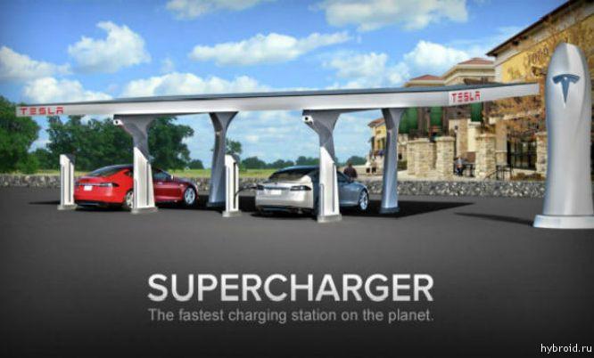 Tesla устанавливает сразу шесть зарядных станций в Норвегии