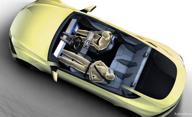 Женевский концепт автономного автомобиля компании Rinspeed