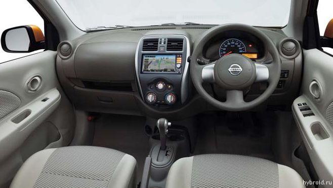 Салон автомобиля Nissan Micra