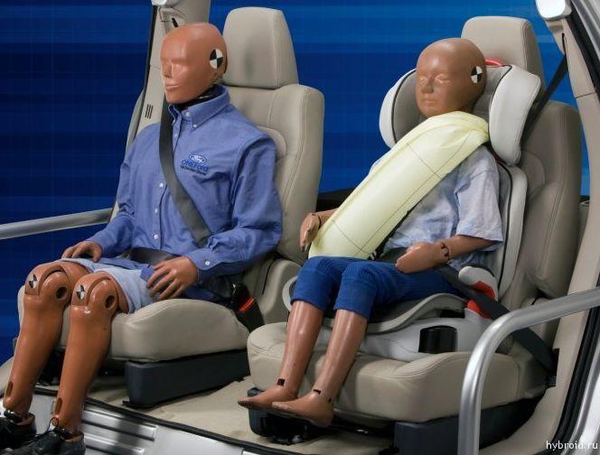 Надувные задние ремни безопасности собственного производства Ford Fusion Hybrid