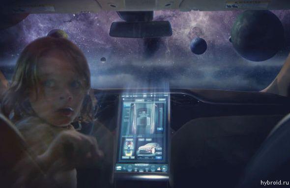"""Видео. Tesla Model S - """"Современный космический корабль"""""""