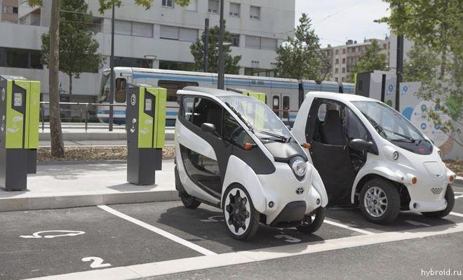 На европейских дорогах появится 70 ультракомпактных электромобилей Тoyota i-road.