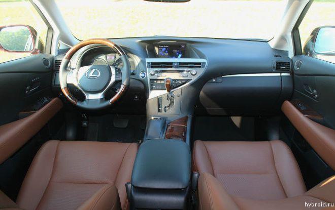 Lexus RX 450h вид снутри