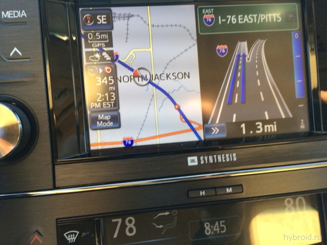 Навигация в Toyota Avalon