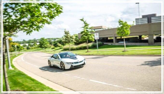 Тест-дравйв BMW i8 в Росии
