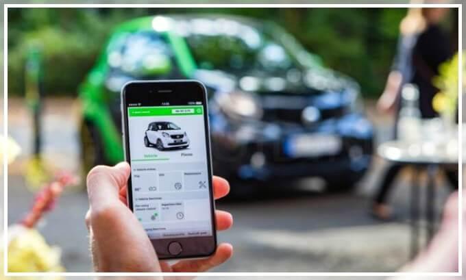 Управление электромобилем Смарт при помощи смартфона