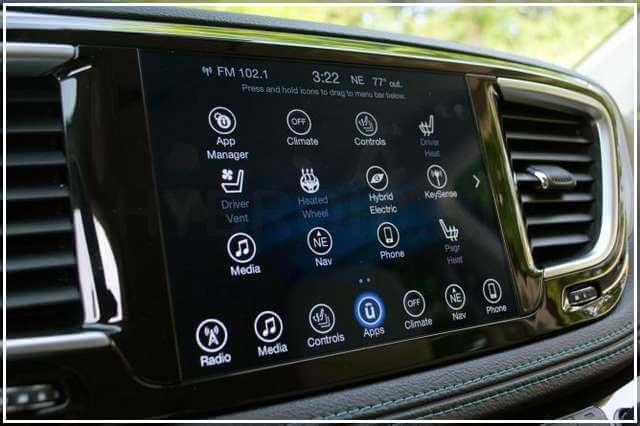 Панель управления Chrysler Pacifica Hybrid
