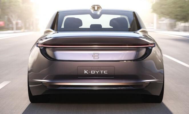Электромобиль K-byte от китайского производителя Byton