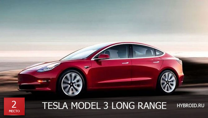 Место #2 - Tesla Model 3 Long Range