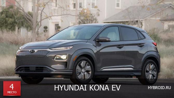 Место #4 - Hyundai Kona EV