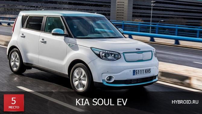 Место #5 - Kia Soul EV